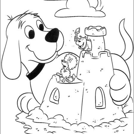 castle clifford the big red dog coloring sheet online