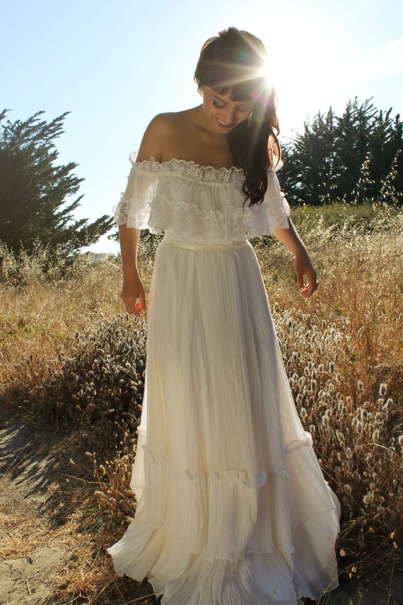 JUNE Vintage Gunne Sax Wedding Dress 1970's by silkwormvintage