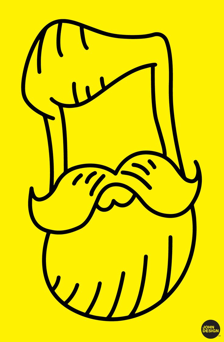 BEARD / VECTOR / ILLUSTRATOR / ARTWORK BY WWW.JOHNDESIGN.NET