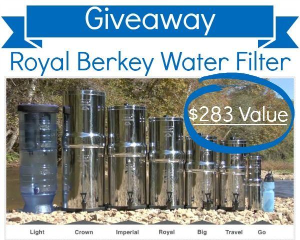 Royal Berkey Water Filter GIVEAWAY!