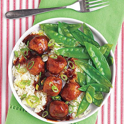 Budget Tangy Asian Meatballs   With a different and delicious Asian-style glaze, these meatballs are a tangy addition to any potluck meal, indoors or outdoors.