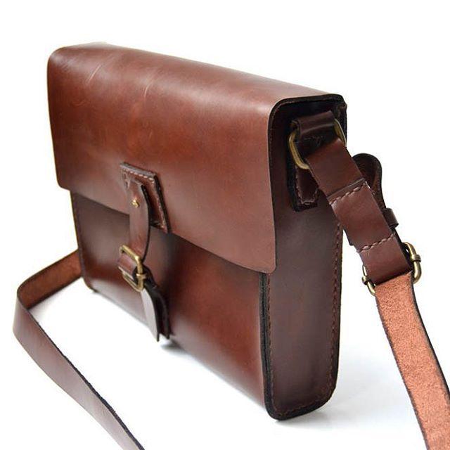 Midi Satchel handstitched #handmade #leathercraft #bag #leather by @jollyrogerx on instagram