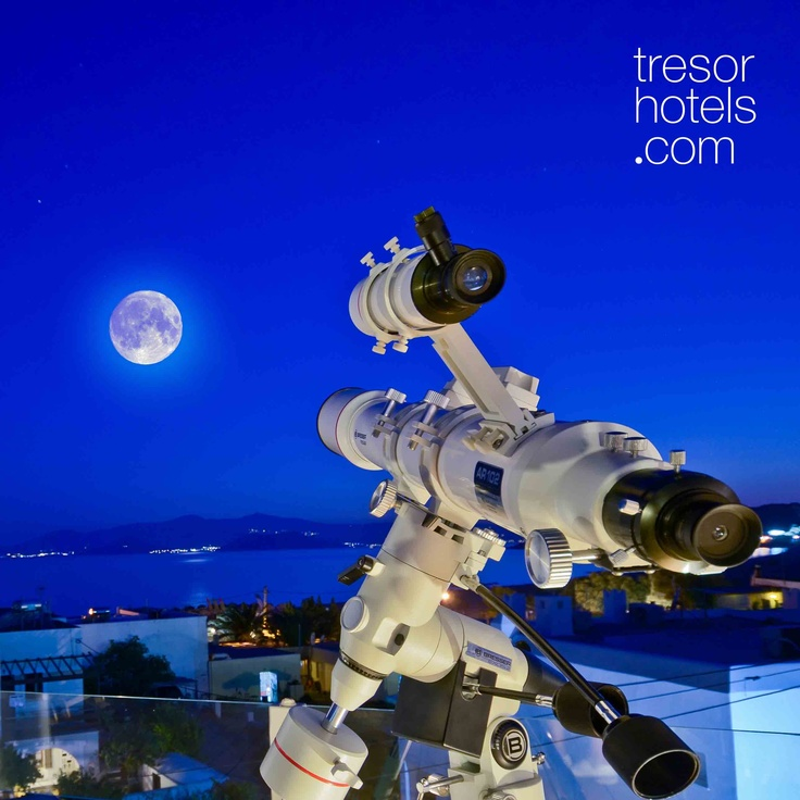 Trésor Hotels and Resorts_Luxury Boutique Hotels_#Greece_ Get the chance to discover the stars with the magnificent telescope at Naxos Island hotel.
