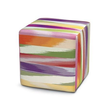 Missoni Home Keur Cube Pouf