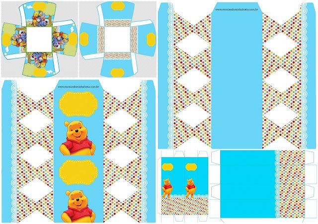 Winnie the Pooh Party: Free Printable Boxes.