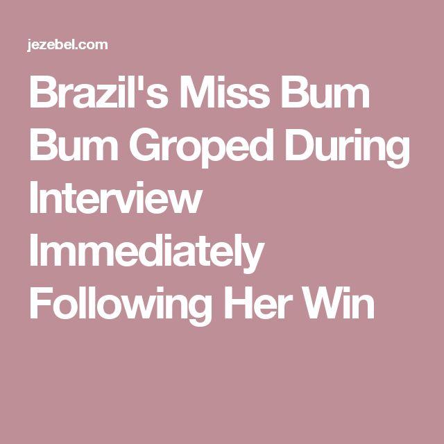 Brazil's Miss Bum Bum Groped During Interview Immediately Following Her Win