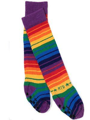 ROCK-A-THIGH  Unisex-Baby Infant Rainbow Colored Thigh Socks, Multi, 1-2 Years Rock-a-Thigh Baby. $21.99