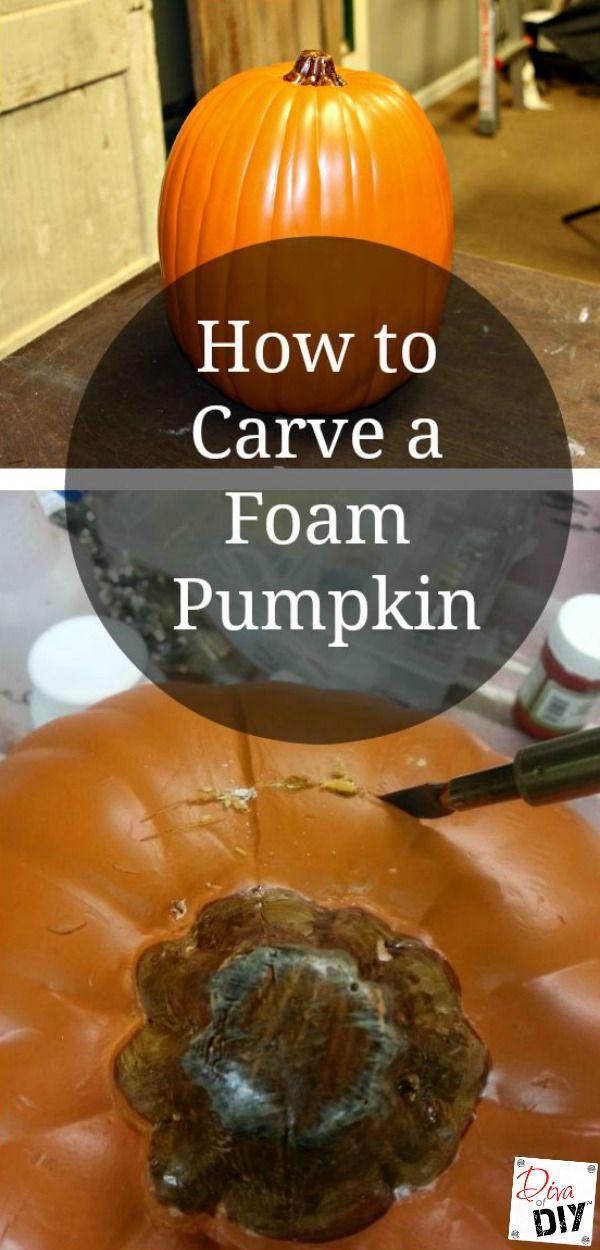 Quick And Easy Way To Carve A Foam Pumpkin Foam Pumpkins