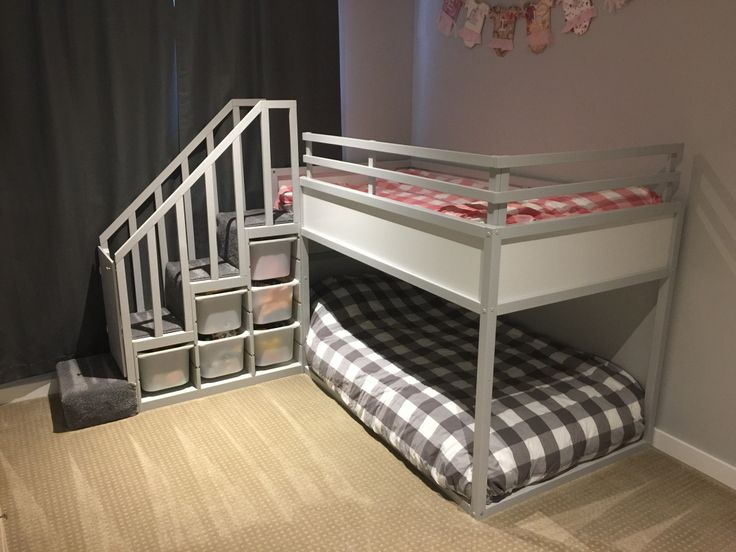 Ikea Kura Bed Hack Trofast Stairs Bunk Diy Projects Pinterest And