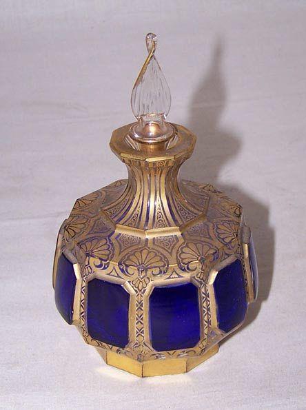 xx..tracy porter..poetic wanderlust...- 19th century Moser art glass perfume.