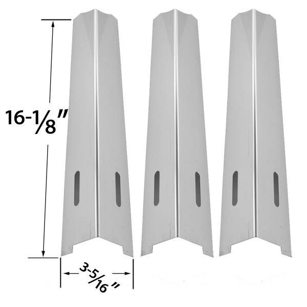 3 PACK REPLACEMENT STAINLESS STEEL HEAT SHIELD FOR OUTDOOR GOURMET, KENMORE, JENN-AIR, IGLOO, BBQTEK, BBQ GRILLWARE, KITCHENAID, KMART, LIFE@HOME, MASTER FORGE, UNIFLAME AND PERFECT FLAME GAS GRILL MODELS  Fits Outdoor Gourmet Models : BQ06W1C-A, BQ06WIC  BUY NOW @ http://grillrepairparts.com/shop/grill-parts/3-pack-replacement-stainless-steel-heat-shield-for-kenmore-jenn-air-igloo-bbqtek-bbq-grillware-kitchenaid-kmart-lifehome-master-forge-uniflame-and-perfect-flame-gas-grill-models/