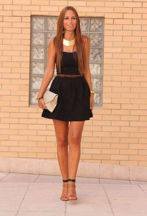 Vestidos cortos color negro de moda casual elegante 2013 - Colores de moda ...