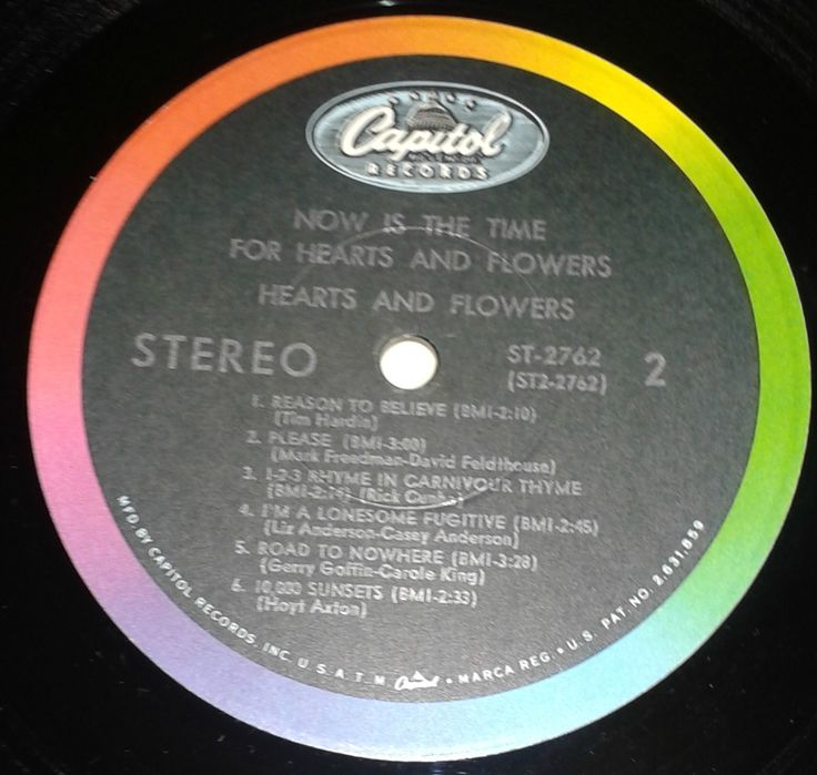 hearts and flowers - now is the time for...capitol original label
