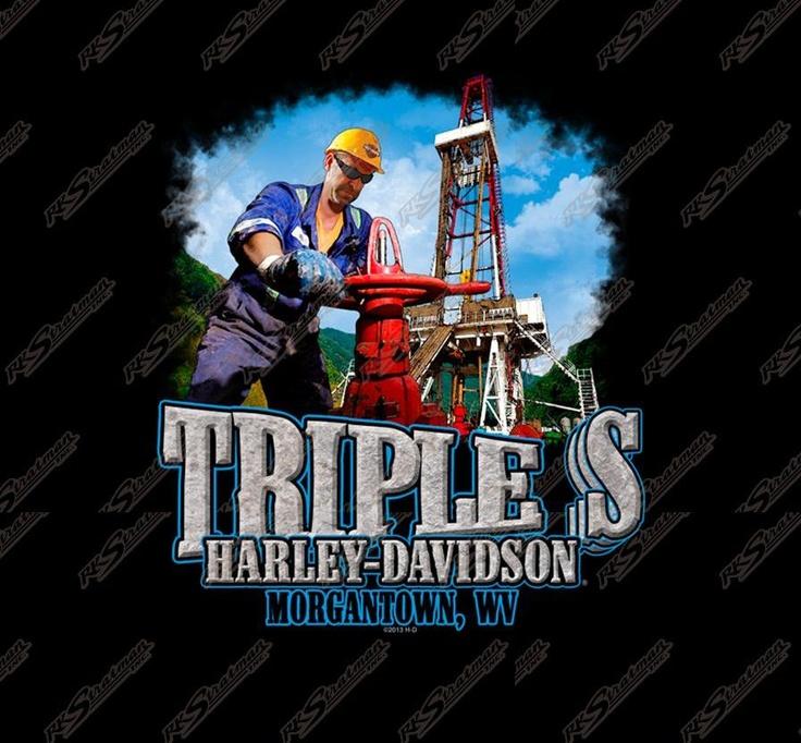 Driller shirt back at triple s harleydavidson