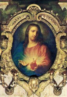 Sagrado Corazón de Jesús, 1767. Obra de Pompeo Batoni. Óleo sobre cobre. Iglesia de Jesús,  Roma. Italia