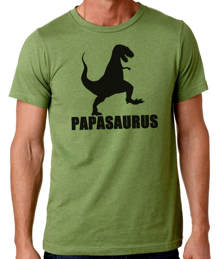 Papasaurus, gifts for guys, dad, grandpa, fathers day gift, papa humor tees, novelty funny Graphic T-Shirt Canvas RC14579