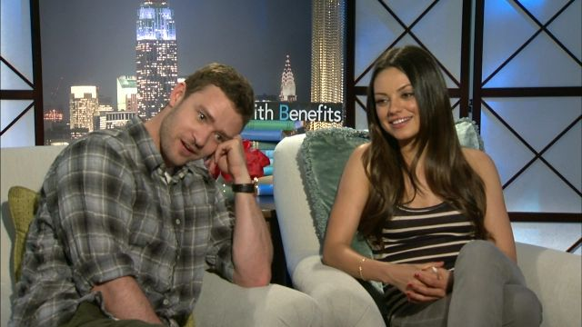 Mila Kunis  with Justin Timberlake in Friends With Benefits interview ( 2011 ) shared to groups 3/29/17