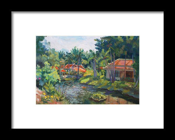 SAMUI LIFE by ALINA MALYKHINA.  Belongs to the Gallery RUSSIAN ARTISTS NEW WAVE. #RussianArtistsNewWave #AlinaMalykhina #Water #Summer #Love #Joy #Art #Painting #ArtForHome #Prints #Samui #Thailand #Travel #Leisure #FramedPrints