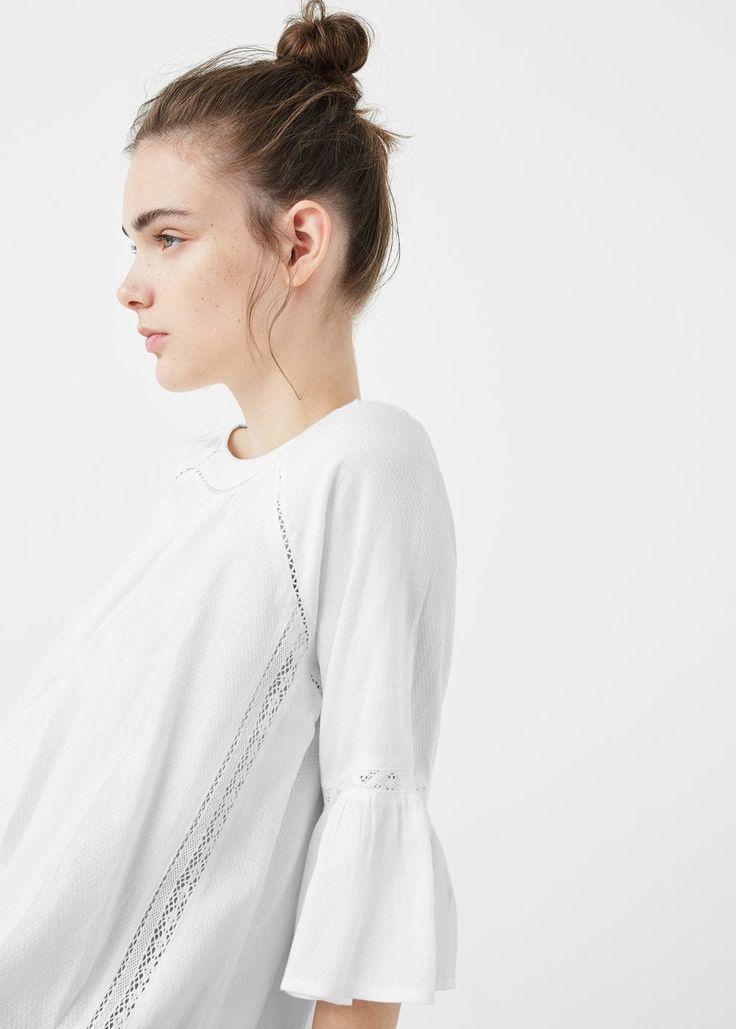Flared sleeve blouse | MANGO