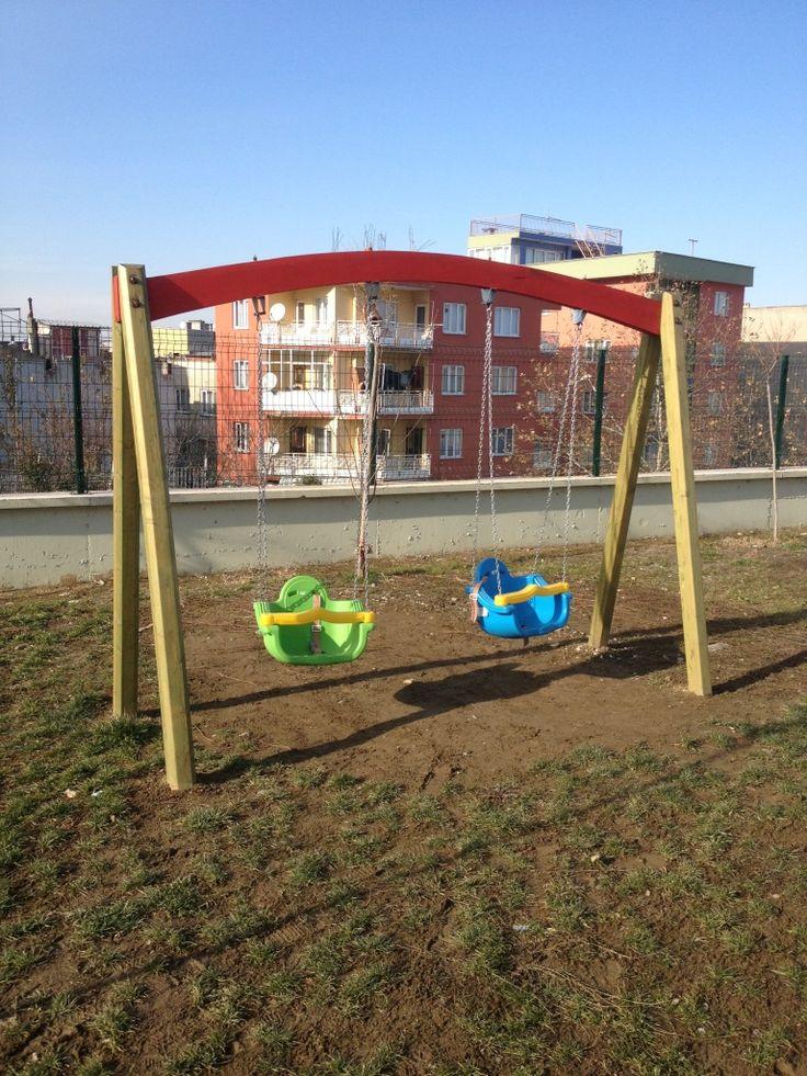 İkili Salıncak Oyun Parkı,Ay-Go, Ahşap Oyun Parkları,Ay Geliştirici Oyuncaklar - Bursa