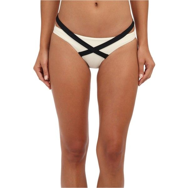 Vitamin A Swimwear Olivia Hipster Women's Swimwear, Beige ($43) ❤ liked on Polyvore featuring swimwear, bikinis, beige, cut out bikini, sports swimwear, hipster bikini bottom, vitamin a bikini and cut-out swimwear