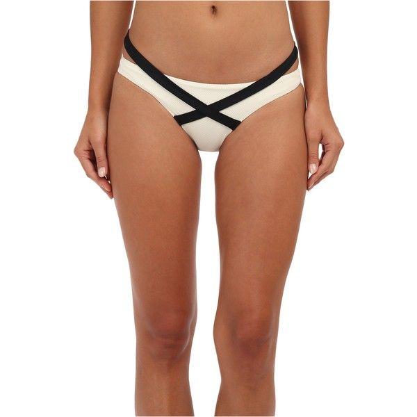 Vitamin A Swimwear Olivia Hipster Women's Swimwear, Beige ($43) ❤ liked on Polyvore featuring swimwear, bikinis, beige, cut out bikini, sports swimwear, hipster bikini bottom, vitamin a bikini and cut-out swimwear