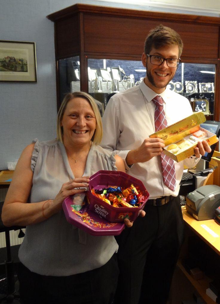 Chocolates from a happy customer & Diwali treats from an associate! Yum!