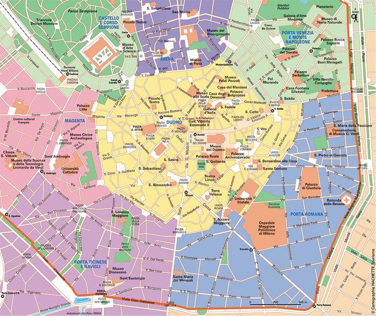 Carte Milan Centre - Plan Milan Centre
