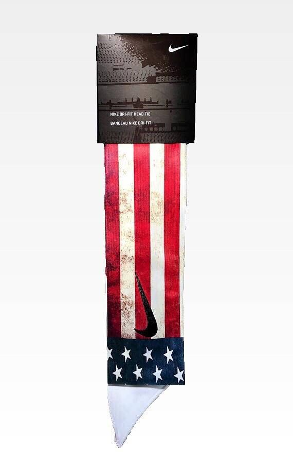 70f647438c0 American Flag Nike Dri-Fit Head Tie 2.0 Features - A GENUINE WHITE NIKE TIE  HEADBAND WITH AN ADDED CUSTOM DESIGN!  ) - Details  This item is made of an  all ...