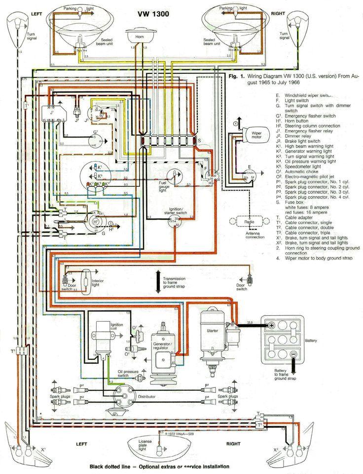 1966 Wiring Diagram Vw Beetles Vw Beetle Classic Beetle