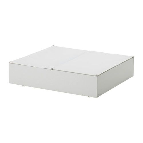 VARDÖ Underbed storage box IKEA Turns the space under your bed into a smart place for storing. The textile lid keeps the dust out.