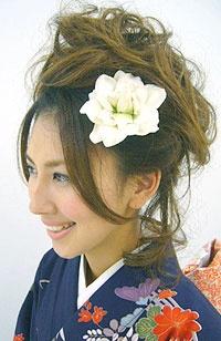 Kimono hair updo