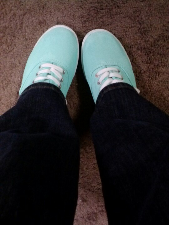 Diy Mint Keds White Walmart Keds And Apple Barrel Acrylic