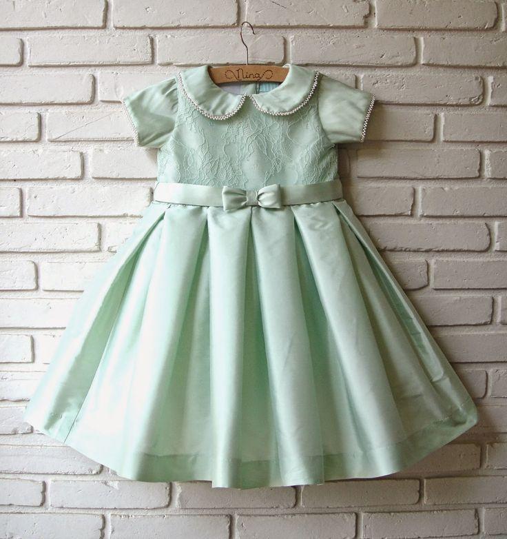 Atelier ly.ko: vestido verde claro