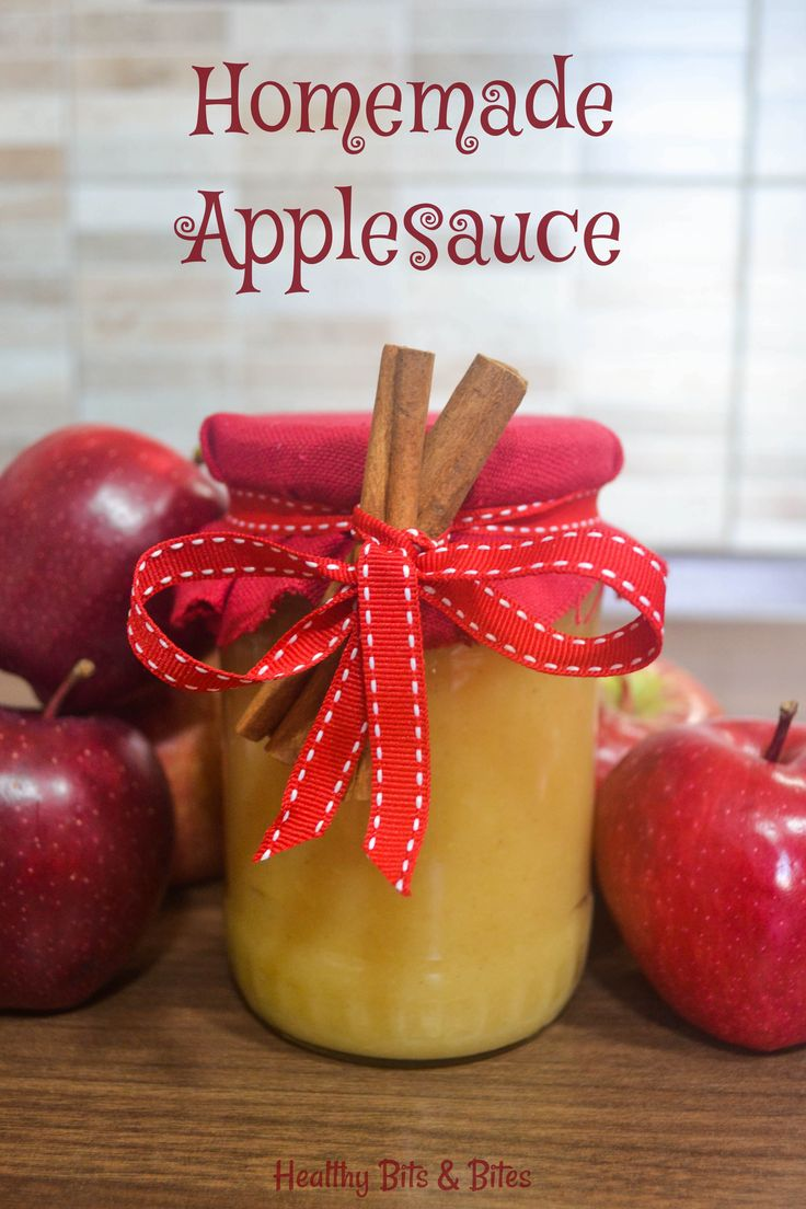 Homemade Applesauce - The healthiest thing you can make with apples! | Healthy Bits and Bites