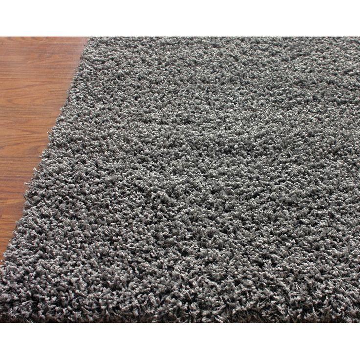 Nuloom Shag Gray Rectangular Indoor Area Rug Common 5 X 8