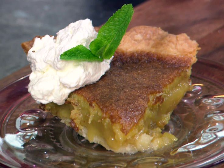 Sweet Tea Pie from FoodNetwork.com #PEAPODKT  This sound odd, but it's really good..