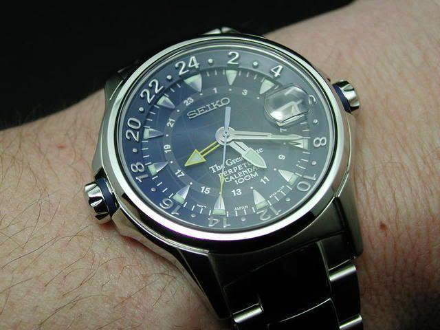 Seiko Great Blue Perpetual Calendar Gmt Slt063p1 Uhren