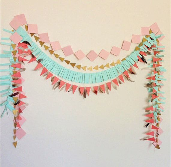 This geometric paper garland backdrop is perfect for your next event! It will be…