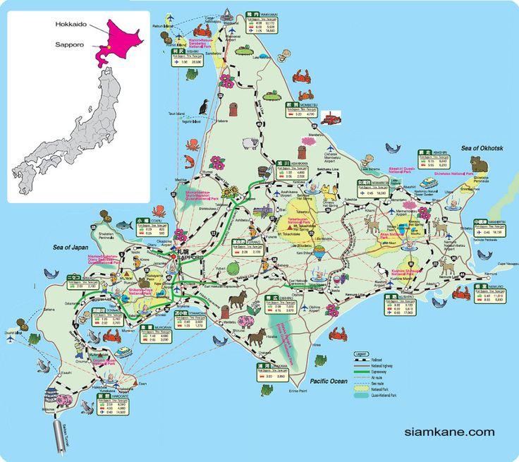 Hokkaido Map More
