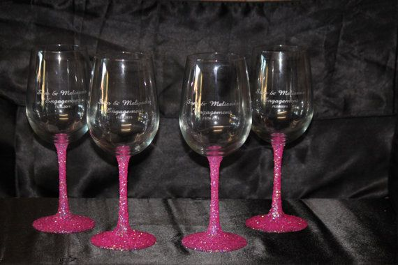 Engraved & Coloured Wine Glass Gifts x1 by PerfectlyPersonalise, $22.00