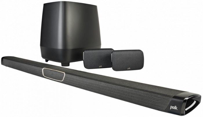 Polk MagniFi MAX Sound Bar SR will deliver big and room-filling sound to create the perfect home cinema experience in the comfort of your living room. Bluetooth, Wi-Fi and ChromeCast connectivity, along with Stereo Dimensional Array technologies will allow you to stream you favourite music in stunningly high quality. Contains one sound bar, one subwoofer and two surround speakers.