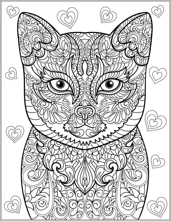 cats and puppies coloring pages - photo#43