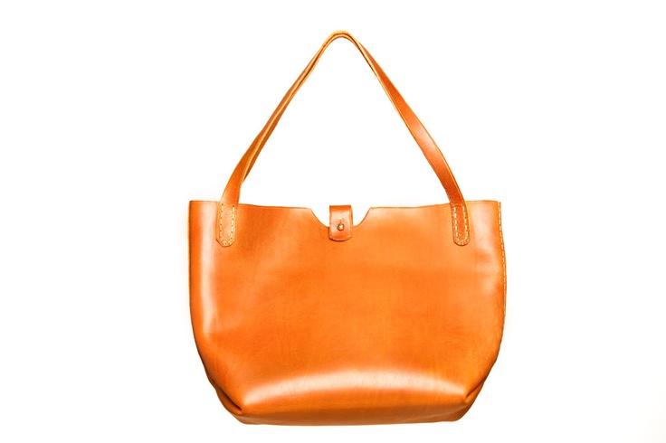 Image of Bucket Bag: brass close top