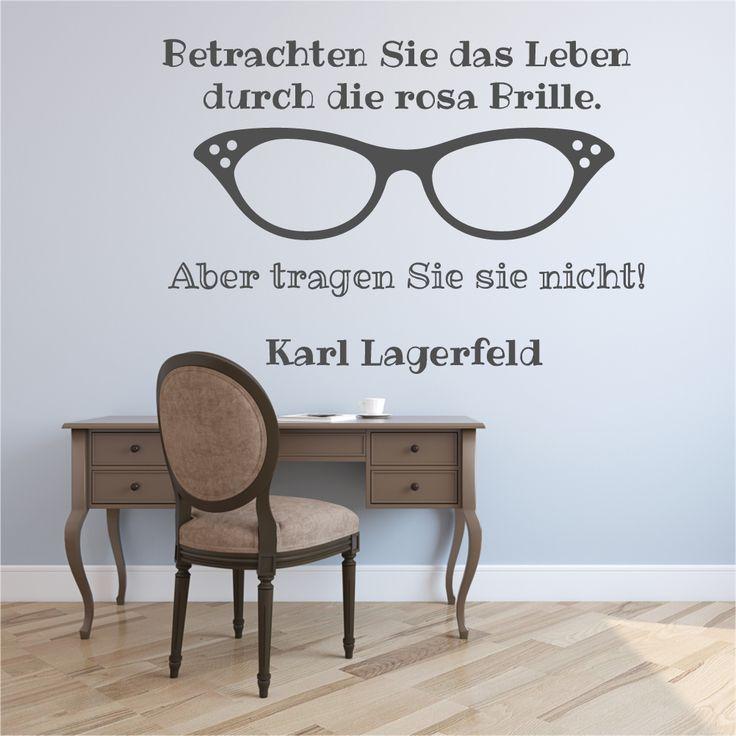 Wandtattoo   Lagerfeld Rosa Brille