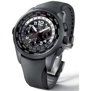 Girard-perregaux 49820-32-611-fk6a Men's World Time Shadow Watch Ceramic Chrono