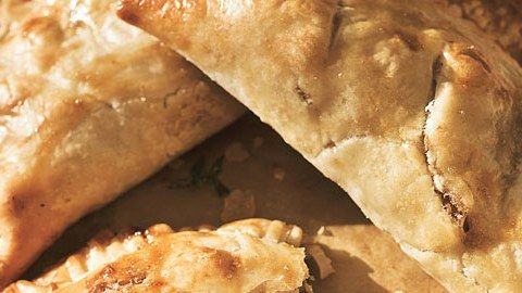 Beef Pasties with Caramelized Onions and Stilton Cheese Recipe