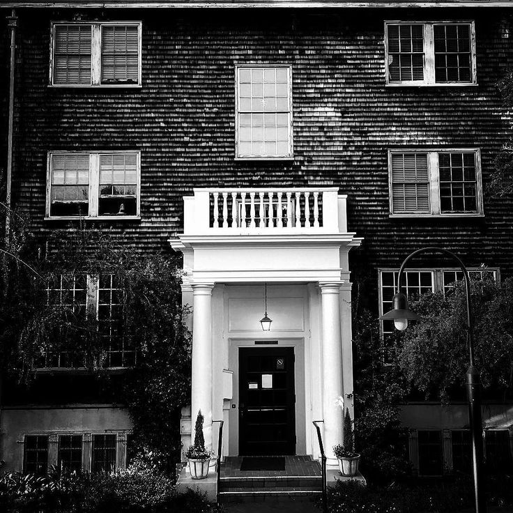 #entrance to women's faculty club #womensfacultyclub #berkeley #oakland #sanfrancisco -- captured in #blacknwhite #blackandwhite #bnw #bw with #iphone6s #iphonephotography
