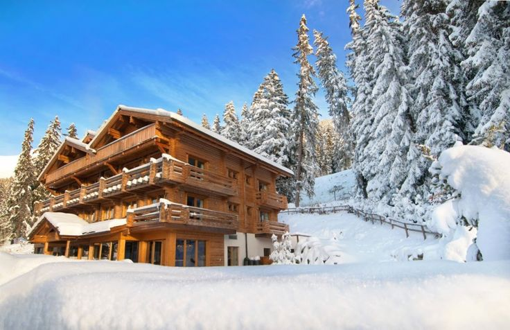 THE LODGE VERBIER Lodge Verbier is a beautiful three-story chalet in the classic mode, with balconies featuring logged railings at every window, and oaken beams crossing the ceilings. The staff will be eager to help you plan your visit with either summer or winter bespoke activities, according to your interests and energies.  #TravelinSwitzerland #ski #luxury Contact us for #THELODGEVERBIER http://exclusiveluxurytravel.ro