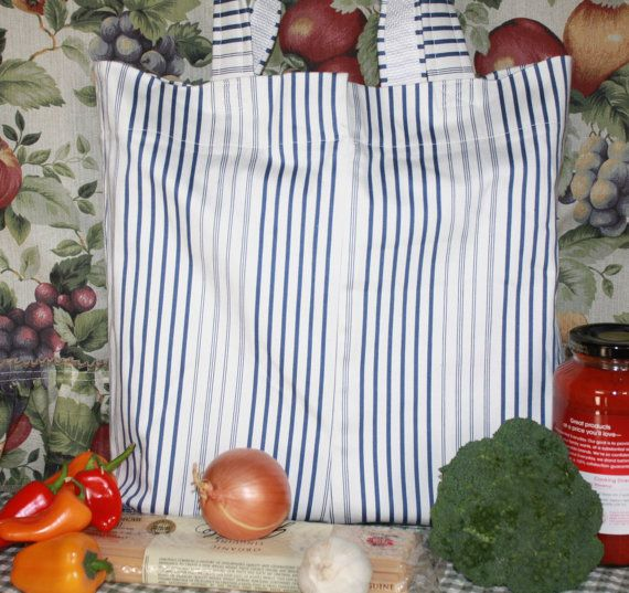Nautical Stripe Market Tote from Repurposed by MISSJEANSTHINGS, $15.00